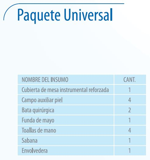 Paquete Universal